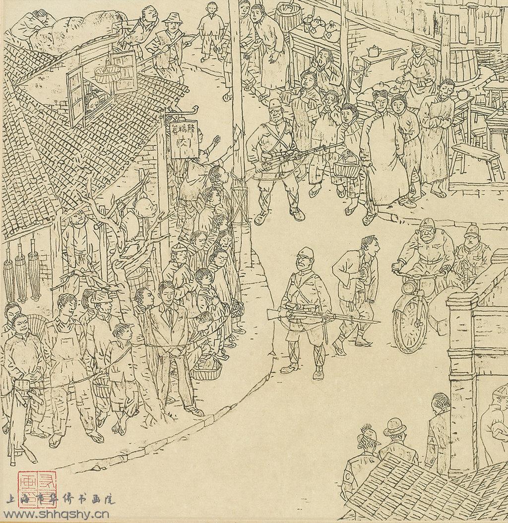 """""""贺老汉""""携""""抗日""""长卷亮相2013上海艺博会"""